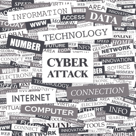 CYBER ATTACK  Word cloud concept illustration Stock Vector - 20629597