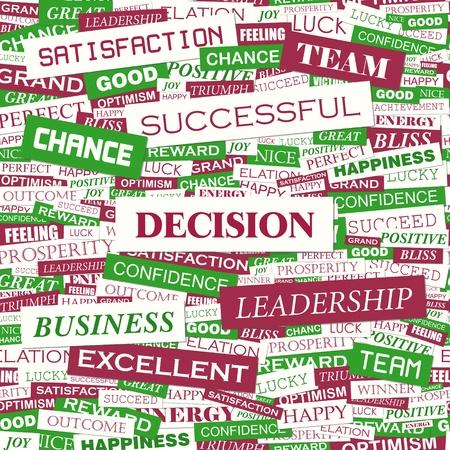 DECISION  Word cloud concept illustration Stock Vector - 20628088