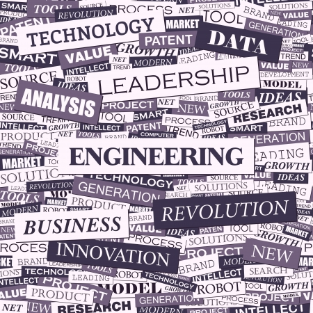 ENGINEERING  Word cloud concept illustration Vector