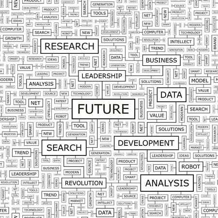 FUTURE  Word cloud concept illustration  Stock Vector - 20309699