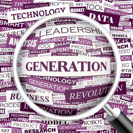 new generation: GENERATION  Word cloud concept illustration