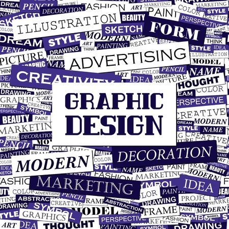 GRAPHIC DESIGN  Word cloud concept illustration  Vector