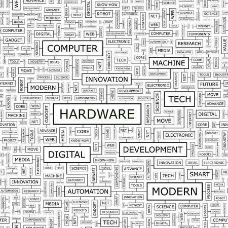 HARDWARE  Word cloud concept illustration Stock Vector - 23638475