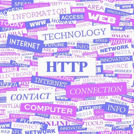 http: HTTP Word Cloud Konzept Illustration