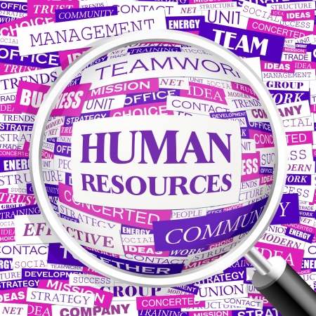 HUMAN RESOURCES Word Cloud Konzept Illustration