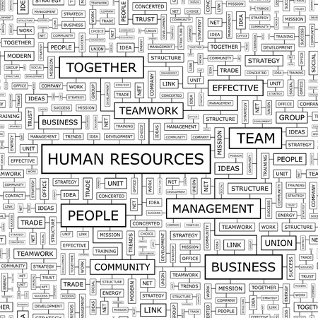 HUMAN RESOURCES  Word cloud concept illustration Stock Vector - 20195057