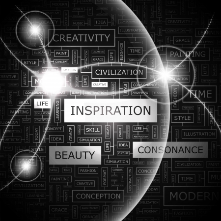 INSPIRATION  Word cloud concept illustration Stock Vector - 20189381
