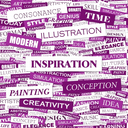 INSPIRATION  Word cloud concept illustration  Stock Vector - 20629915