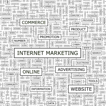 INTERNET MARKETING  Word cloud concept illustration  Vector