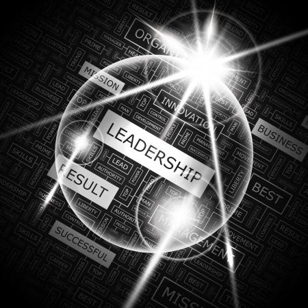LEADERSHIP  Word cloud concept illustration  Vector