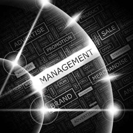 MANAGEMENT Word Cloud Konzept Illustration Standard-Bild - 20194895