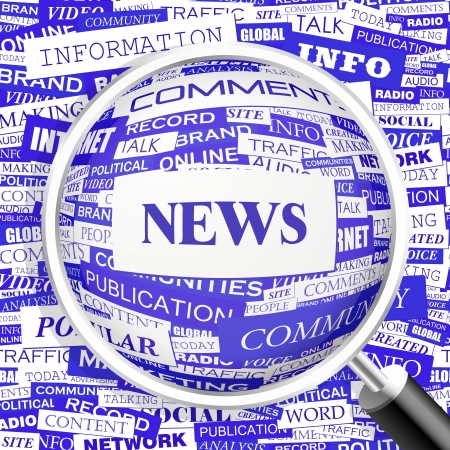 NEWS  Word cloud concept illustration
