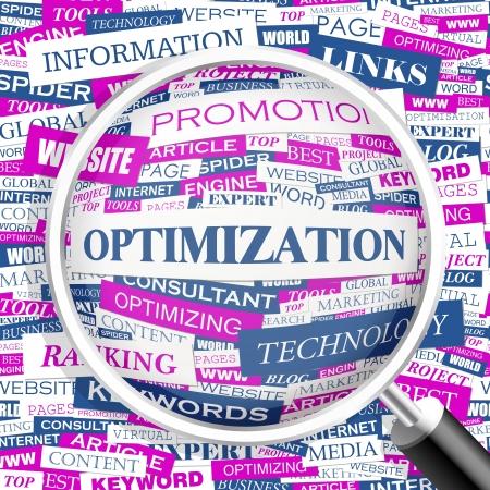 keywords backdrop: OPTIMIZATION  Word cloud concept illustration