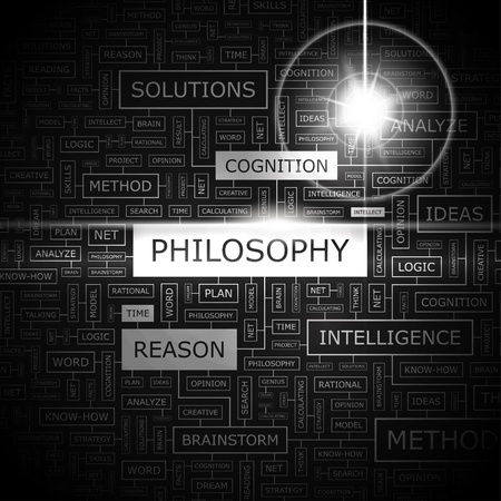 PHILOSOPHY  Word cloud concept illustration  Vector