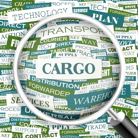 CARGO  Word cloud concept illustration    Vector
