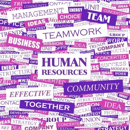 ressources humaines: RESSOURCES HUMAINES Parole concept de cloud illustration