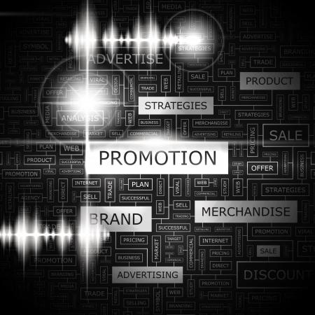 pr: PROMOTION  Word cloud concept illustration
