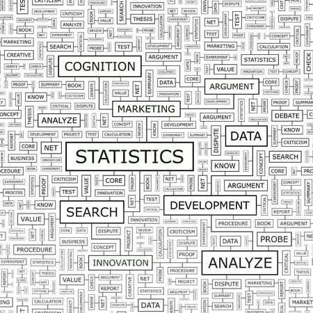 STATISTICS  Word cloud concept illustration Stock Vector - 20105031