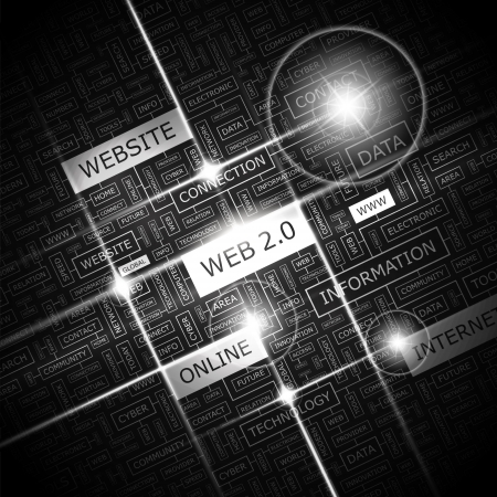 웹 2 0 단어 구름 개념 그림