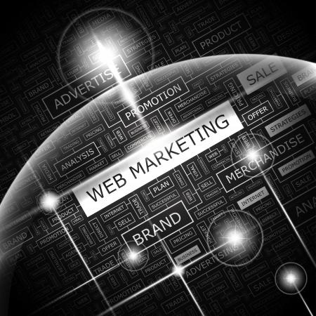 web marketing: WEB MARKETING  Word cloud concept illustration