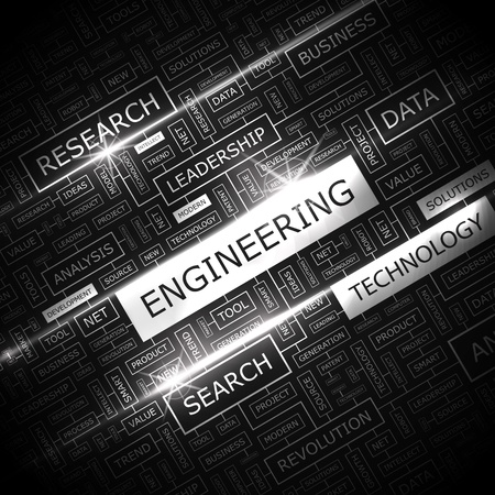 an engineer: ENGINEERING  Word cloud concept illustration