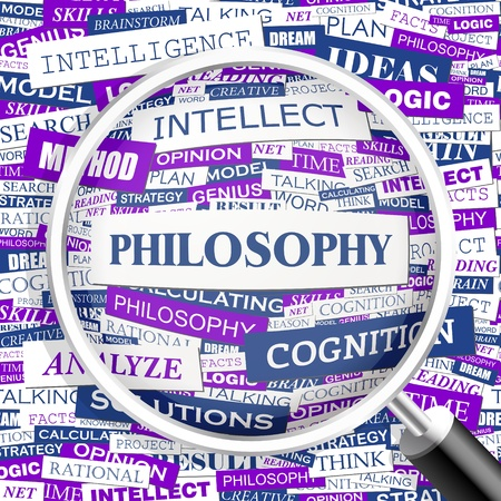 PHILOSOPHY  Word cloud illustration  Tag cloud concept collage  Vector illustration  Vector