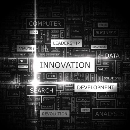 innovation word: INNOVATION  Word cloud concept illustration