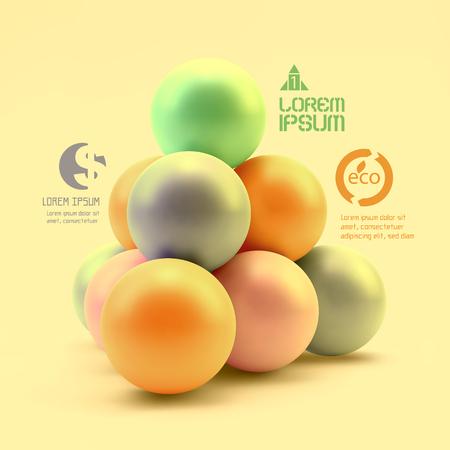 3d circle: Business concept illustration