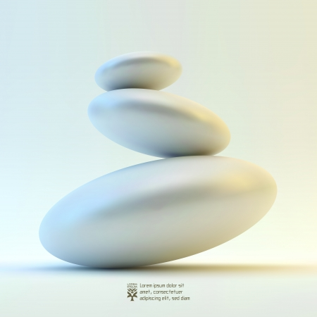 zen stone: 3D illustration