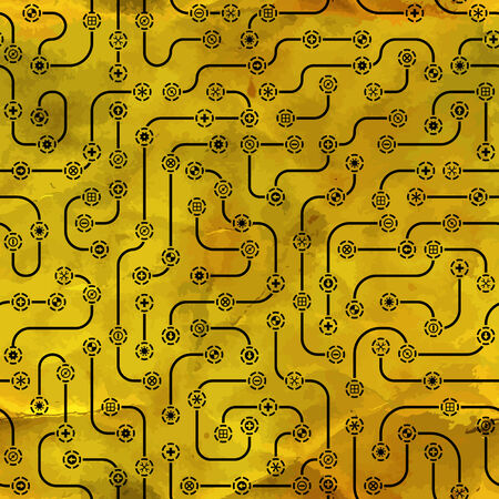 electrical part: Seamless electronic pattern  Vector illustration