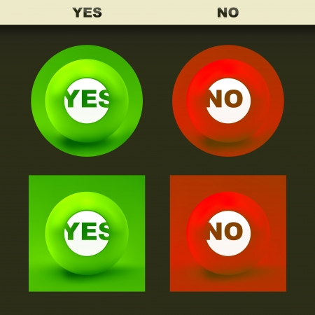 YES and NO Stock Vector - 23639883