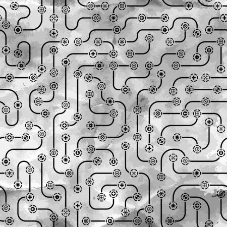 silicon: Seamless electronic pattern Illustration