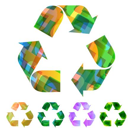 ecological damage: Recycle symbol