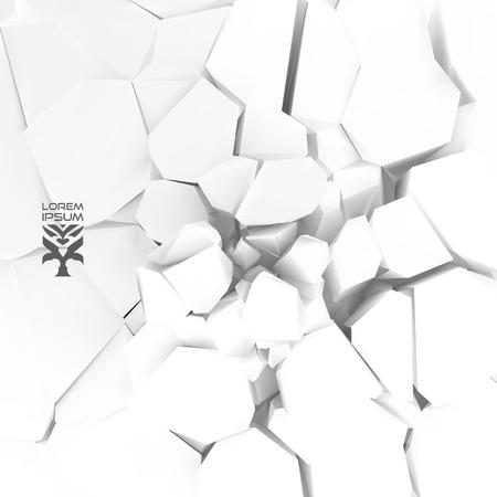 demolition: Cracked . Vector illustration.