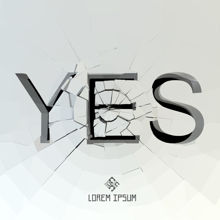 sanction: YES. Vector illustration.