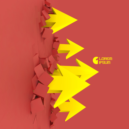 advance: Business concept vector illustration.  Illustration