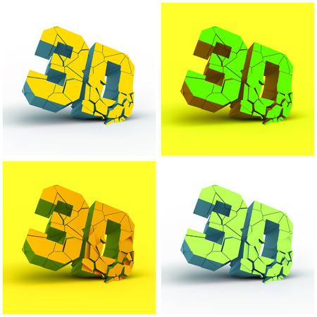 stereoscope: 3D  Vector illustration