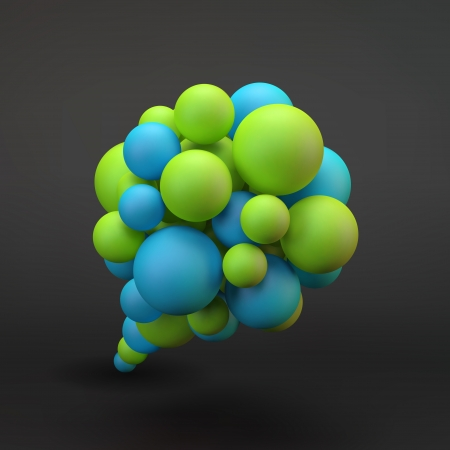 discuss: Vector speech bubble  3D illustration  Illustration