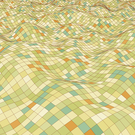 3d mosaic background  Vector illustration  Vector