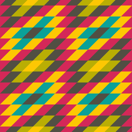 rhombic: Seamless geometric background. Mosaic. Abstract vector Illustration. Can be used for wallpaper, web page background, book cover. Illustration