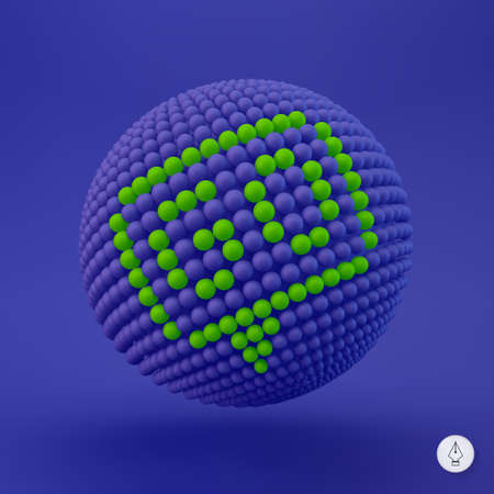Go icon. Can be used as web sign, design element. Vector illustration. 3D pixel art. Vector