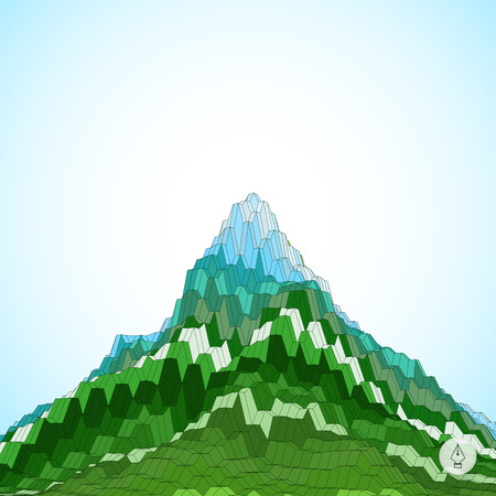 altitude: Abstract background with mountain. Mosaic. 3d vector illustration. Can be used for wallpaper, web page background, web banners.