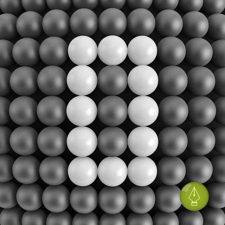null: The number zero. Abstract mathematics background. 3d vector illustration. Illustration