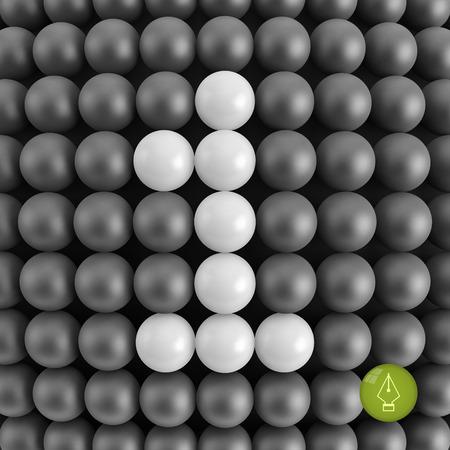 Number one. Mathematics background - 3d vector illustration.