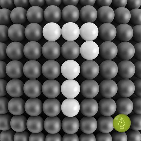seventh: Number seven. Mathematics background - 3d vector illustration. Illustration