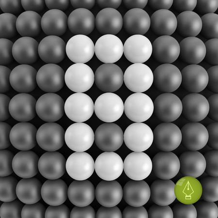 Number eight. Mathematics background - 3d vector illustration. Illustration