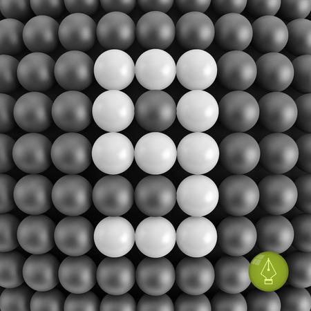 numero nueve: Número nueve. Matemáticas de fondo - ilustración vectorial 3d.