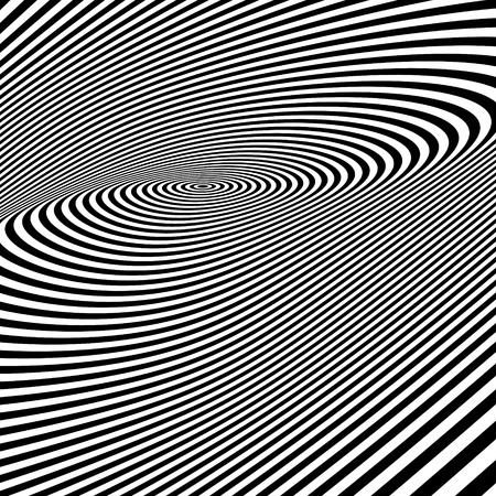 ripply: Abstract swirl background. Pattern with optical illusion. Vector illustration.
