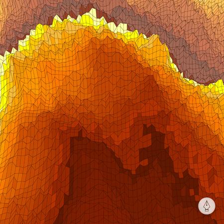 ausbrechen: Abstrakte Landschaft Hintergrund. Mosaik Vektor-Illustration. Kann f�r Banner, Flyer, Buchcover, Poster, Web-Banner verwendet werden.