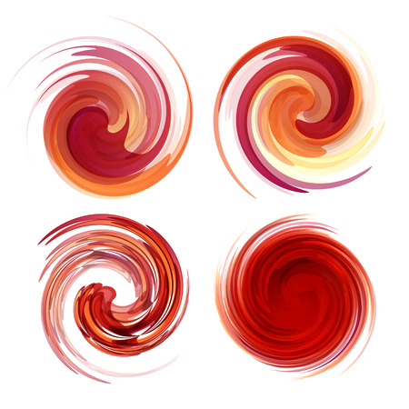 swirl pattern: Colorful abstract icon set. Dynamic flow illustration. Swirl collection.